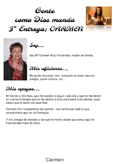 3ª Entrega de Gente como Dios Manda: Carmen