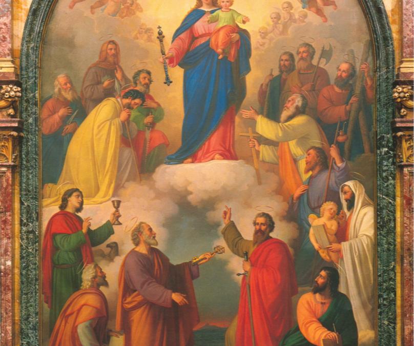 María Auxiliadora, bajo la mirada de Don Bosco.