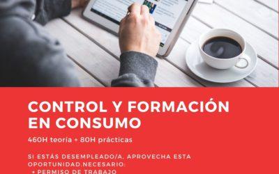 Certificado de profesionalidad en CONTROL Y FORMACIÓN EN CONSUMO